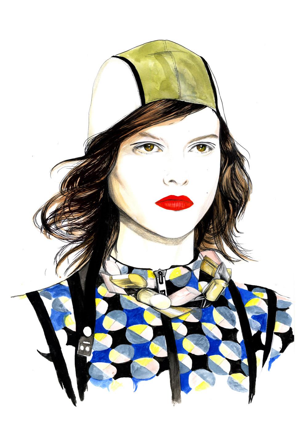 Fashion illustrations by Caroline Andrieu | CinZilicious