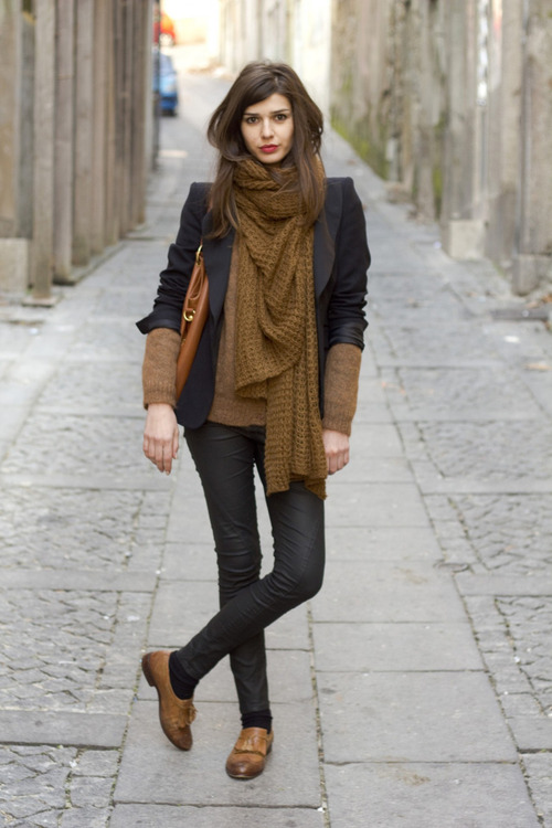 Winter Street Style The Scarf Look Cinzilicious