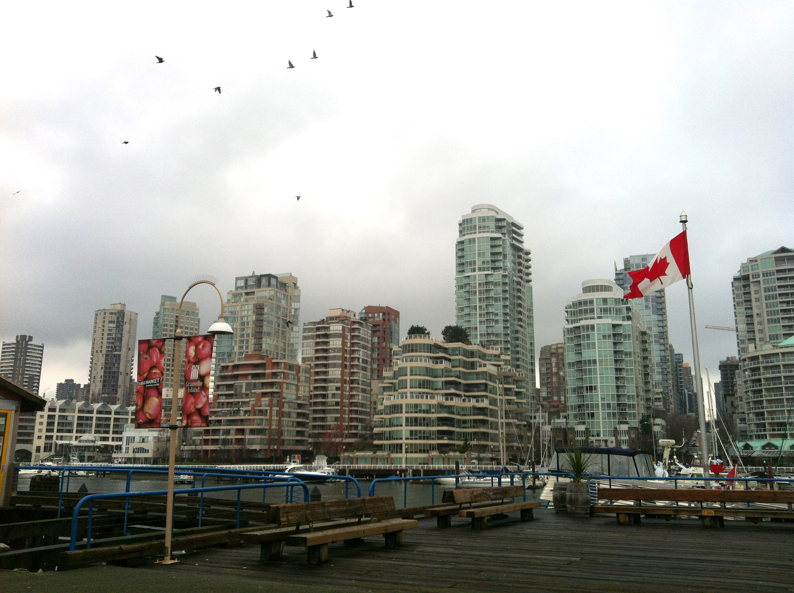 how to get to granville island by foot